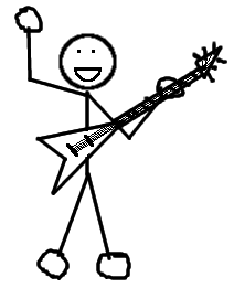 Stick Man Guitar Player